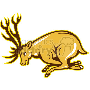 deer charging clipart. Commercial use image # 388643