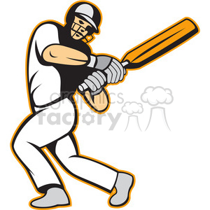 cricket player batting stance clipart. Royalty-free image # 388653