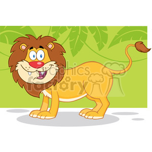 Happy Lion Cartoon Mascot Character clipart. Royalty-free image # 388683