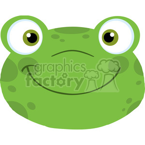 5648 Royalty Free Clip Art Cute Frog Smiling Head clipart. Commercial use image # 388785