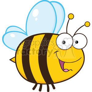 6544 Royalty Free Clip Art Cute Bee Cartoon Mascot Character clipart. Royalty-free image # 389530