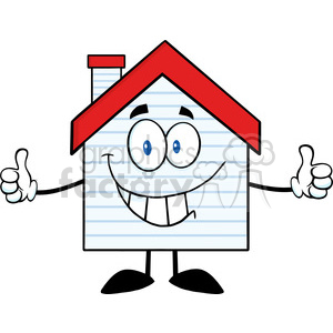 6475 Royalty Free Clip Art Smiling House Cartoon Character With New Siding clipart. Royalty-free image # 389642