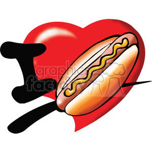 I love hotdogs image clipart. Commercial use image # 389850