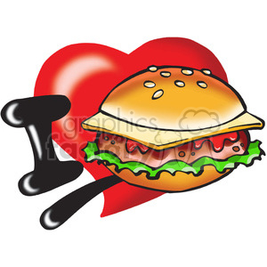 I love cheeseburgers clipart. Royalty-free image # 389860