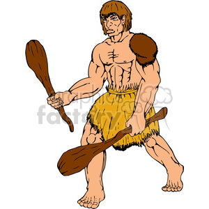 caveman club two 001 clipart. Commercial use image # 389880