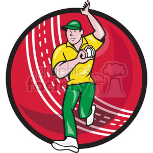 cricket bowler bowling front BALL clipart. Commercial use image # 389890