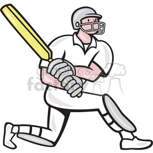 cricket batsman batting side clipart. Royalty-free image # 389900