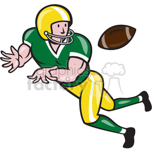 american football wide receiver catch ball clipart. Royalty-free image # 389915