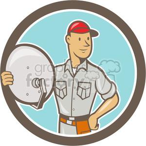 satellite tv installer clipart. Commercial use image # 389925