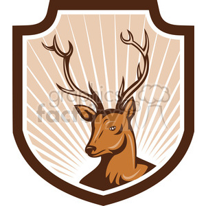 reindeer head clipart. Commercial use image # 389945