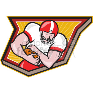 american football runningback run frnt CREST clipart. Royalty-free image # 389955