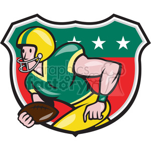 american football receiver rusher side SHIELD clipart. Royalty-free image # 389975