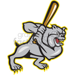 baseball bulldog player batting