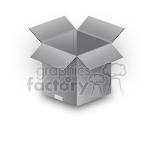 gray box clipart. Commercial use image # 390041