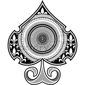 spade spirograph tattoo design vector illustration clipart. Commercial use image # 390051
