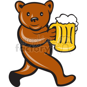bear holding beer mug clipart. Commercial use image # 390383