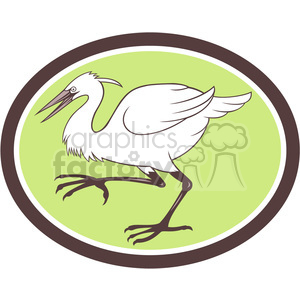 heron walking side OL clipart. Royalty-free image # 390393