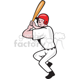 baseball batter batting front