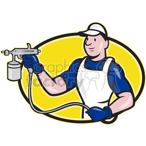 painter spray paint gun front clipart. Royalty-free image # 390479