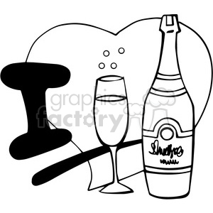 I love champagne outline clipart. Commercial use image # 390689