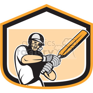 cricket player batting stance side clipart. Royalty-free image # 391369