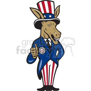 political donkey democrat thumb up clipart. Royalty-free image # 391389