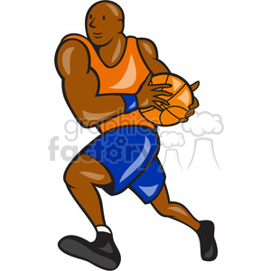 basketball player lay up clipart. Commercial use image # 391409