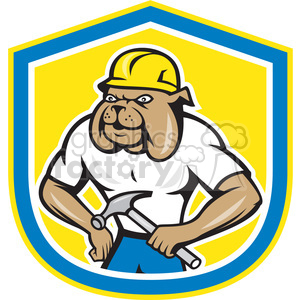 bulldog construction worker logo clipart. Commercial use image # 391429