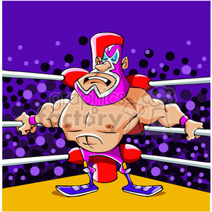 lucha libre Mexican wrestler clipart. Commercial use image # 391492