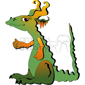 Dragon COL clipart. Royalty-free image # 391524