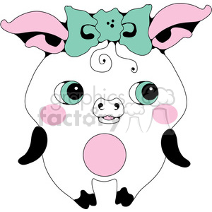 Pig 01 clipart. Commercial use image # 391555