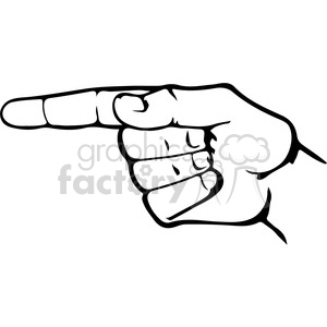 sign language letter G clipart. Commercial use image # 167495
