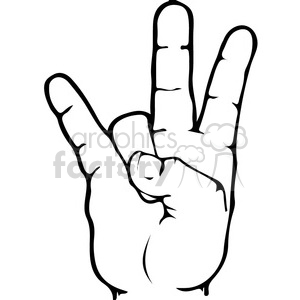 ASL sign language 7 clipart illustration clipart. Royalty-free image # 391650