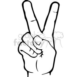 ASL sign language 2 clipart illustration clipart. Commercial use image # 391660