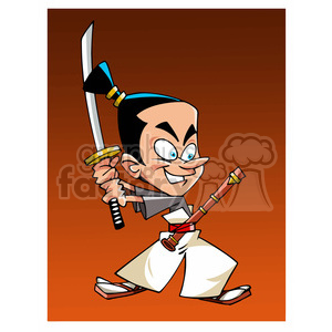 Samurai cartoon caricature clipart. Royalty-free image # 391695