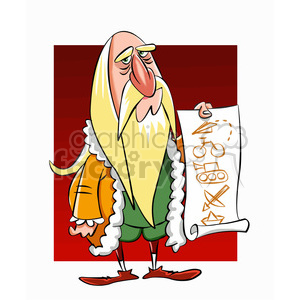 Leonardo Da Vinci cartoon caricature clipart. Royalty-free image # 391715