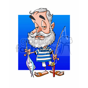Ernest Hemingway cartoon caricature clipart. Royalty-free image # 391745