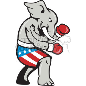 elephant republican boxing character clipart. Royalty-free image # 392347