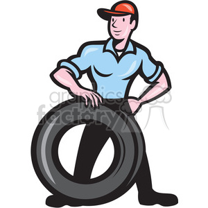 mechanic tire technician shape clipart. Commercial use image # 392397