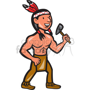 native american indian tomahawk shape clipart. Royalty-free image # 392407