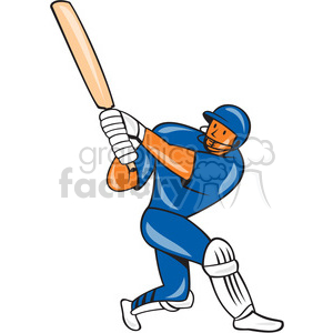cricket player batting in blue shape clipart. Royalty-free image # 392417