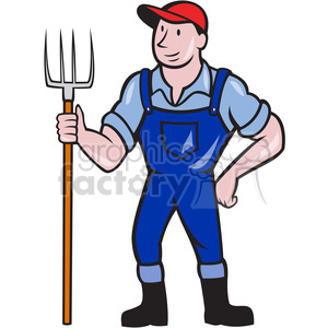 farmer pitchfork frnt shape clipart. Commercial use image # 392437