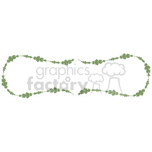 green floral frame swirls boutique design border 8 clipart. Royalty-free image # 392459