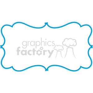 blue lines frame swirls boutique design border 9 clipart. Royalty-free image # 392465