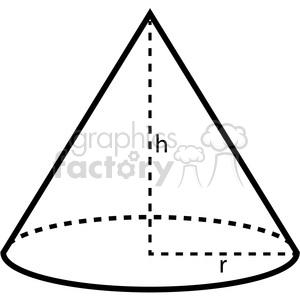 geometry cone school math worksheet clip art graphics images clipart. Royalty-free image # 392512