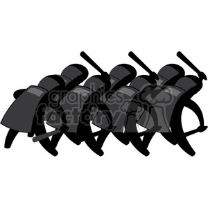 police state illustration group of cops clipart. Royalty-free image # 392542