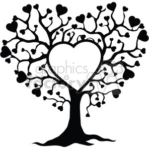 tree+ of+ love love family tree trees life hearts organic grow black+white RG