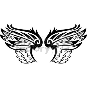 vinyl ready vector wing tattoo design 053 clipart. Commercial use image # 392685