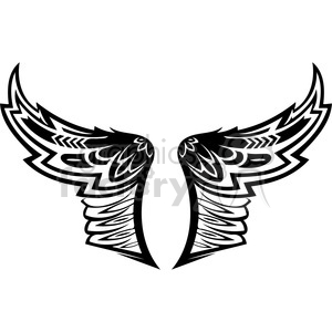 vinyl ready vector wing tattoo design 014 clipart. Royalty-free image # 392695