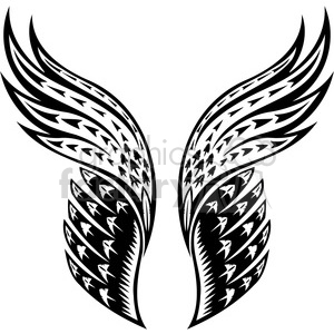 awesome wings clipart. Royalty-free image # 392705